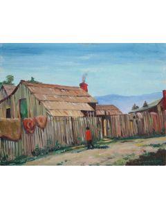 Burbank, E. A. (1858-1949) - Indian Home at Auburn, California