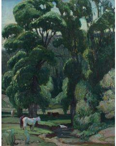 O.E. Berninghaus (1874-1952) - The Green Leaves of Summer