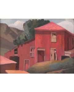 SOLD Anna Elizabeth Keener (1895-1982) - Red Barn