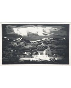 SOLD Doel Reed (1895-1985) - Picuris Pueblo - Winter