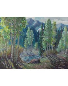 Ben Turner (1912-1966) - Aspen Mountain Stream