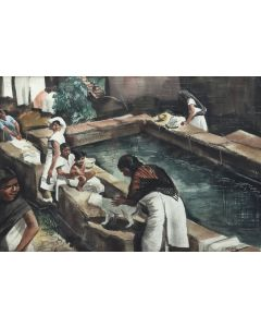 Zoltan Sepeshy (1898-1974) - Mexican Water Pool (PDC91866A-1220-010)