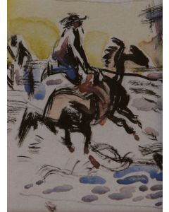 Attributed to Ray C. Strang (1893-1957) - Cowboy on Galloping Horse, Ex Ray Strang Studio Collection (PDC91905B-1110-078A)