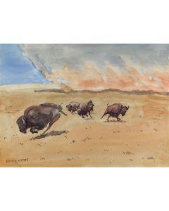 SOLD Leonard Reedy (1899-1956) - The Prairie Fire