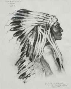 SOLD E. A. Burbank (1858-1949) - Sharp Nose Crow