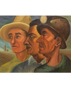 Louis Ribak (1902-1979) - Three Faces