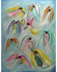 Ted DeGrazia (1909-1982) - All the Angels in Heaven are Happy