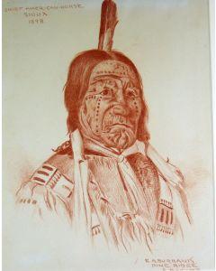 SOLD E. A. Burbank (1858-1949) - Chief American Horse, Sioux