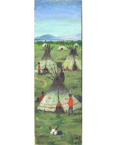 SOLD E. A. Burbank (1858-1949) - Crow Indian Dance at Crow Agency, Montana