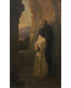 SOLD Johannes Oertel (1823-1909) - Evening Meditation