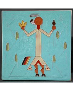 SOLD Pablita Velarde (1918-2006) - Native American Tile