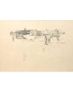 O.E. Berninghaus (1874-1952) - The Governor's Residence, Taos Pueblo