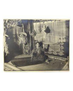 Karl Moon (1878-1948) - Elle at her Loom, Harvey House Albuquerque c. 1905