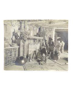 Karl Moon (1878-1948) - Women Weaving with Children c. 1902