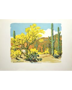 Norma Bassett Hall (1888-1957) - Desert in Bloom at Westward Look