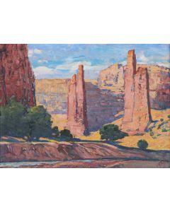 SOLD Joseph Roy Willis (1876-1960) - The Monuments, Canyon de Chelly, Az