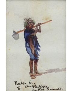 Artist Unknown - Pueblo Boy of San Phillepe on Rio Grande (M91963-0121-009)