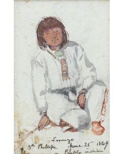 Artist Unknown - Lorenzo of San Felipe, a Pueblo Indian (M91963-0121-010)