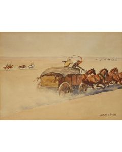 SOLD Leonard Reedy (1899-1956) - Off to the Races