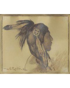 Warren E. Rollins (1861-1962) - Taos Indian