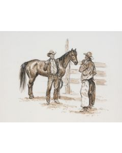 SOLD Joe Beeler (1931-2006) - Trading Horses