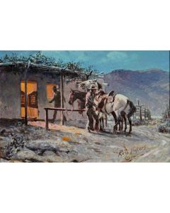 SOLD Russ Vickers (1923-1997) - Let's Go Home, Baldy