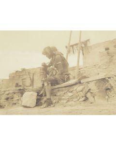 Edward S. Curtis (1868-1952) - Guarding the Snake Kiva
