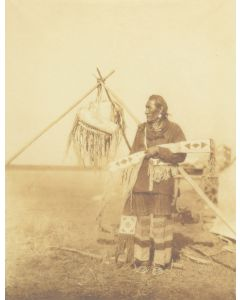Edward S. Curtis (1868-1952) - In a Blackfoot Camp