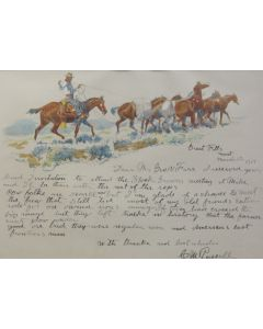 SOLD Charles M. Russell (1864-1926) - Letter Dated March 12, 1919 from Great Falls, M