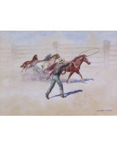 SOLD Leonard Reedy (1899-1956) - Roping a Pony