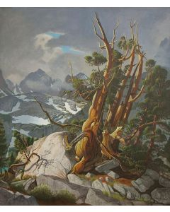 SOLD Robert Clunie (1895-1984) - Storm in Nth Palisade Basin, Inyo County, California