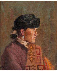 SOLD Joseph Roy Willis (1876-1960) - Navajo Man
