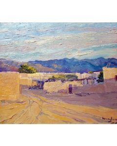 SOLD Walter Ufer (1876-1936) - A Part of Isleta, NM - Evening Sun
