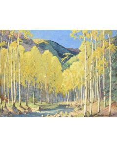 Charles Reynolds (1902-1963) - Aspens with Stream