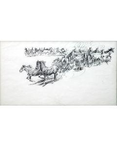 Edward Borein (1872-1945) - Wild Horses (PDC92348A-0621-030)