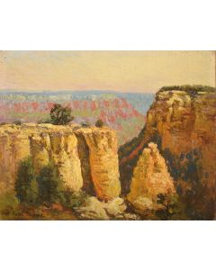 SOLD Rolla Sims Taylor (1872-1970) - Early Morning, Yavapai Point, Grand Canyon, Arizona