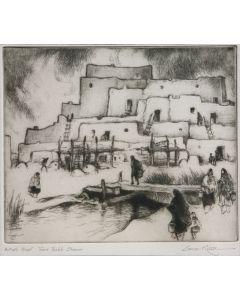 SOLD Gene Kloss (1903-1996) - Taos Pueblo Stream