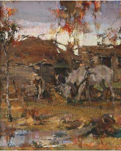 SOLD Nicolai Fechin (1881-1955) - Sunset