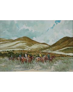 SOLD Ross Stefan (1934-1999) - Returning from Roundup