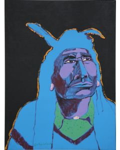 SOLD Fritz Scholder (1937-2005) - Night Indian