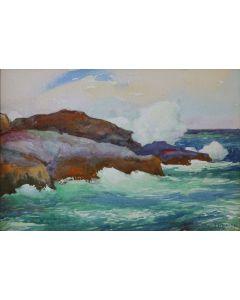 SOLD Joseph Henry Sharp (1859-1953) - The Blow Hole - Kona Coast, HI
