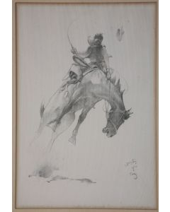 x SOLD W. Herbert Dunton (1878-1936) - Bronco Buster No. 9 - Cattle Land Series