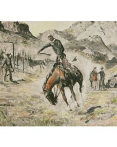SOLD Pete Martinez (1894-1971) - A Rough String Rider