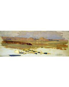 SOLD James Swinnerton (1875-1974) - Sunset Navajo Land
