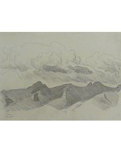 Maynard Dixon (1875-1946) - SOLD - Clouds over the Catalinas