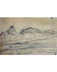 Maynard Dixon (1875-1946) - SOLD - Arizona Desert Range