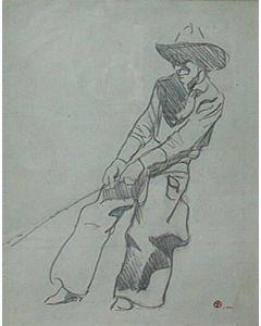 Maynard Dixon (1875-1946) - SOLD - Cowboy at Work