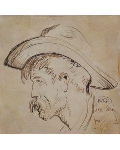Maynard Dixon (1875-1946) - SOLD - Cowboy, Rice, AZ 1915