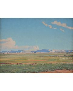 Maynard Dixon (1875-1946) - SOLD - Distant Mesa, Kayenta Ariz