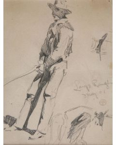 Maynard Dixon (1875-1946) - SOLD - Cowboys Branding